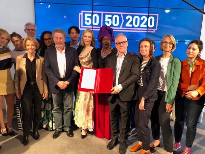 Líderes de Cannes firman promesa para igualdad de género